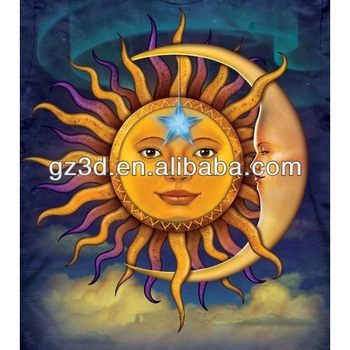 Sun And Moon Home Decorations Latest Abstract 3d Wall Painting Designs