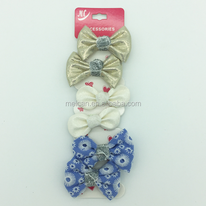 Leather Bow DIY Bow Hair Accessories Hair Clip For Decoration