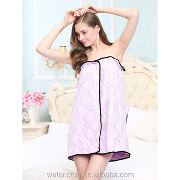China Suppier Double Layer Winter Warm Sexy Girls Lady Bath Robe ... 1114f405e