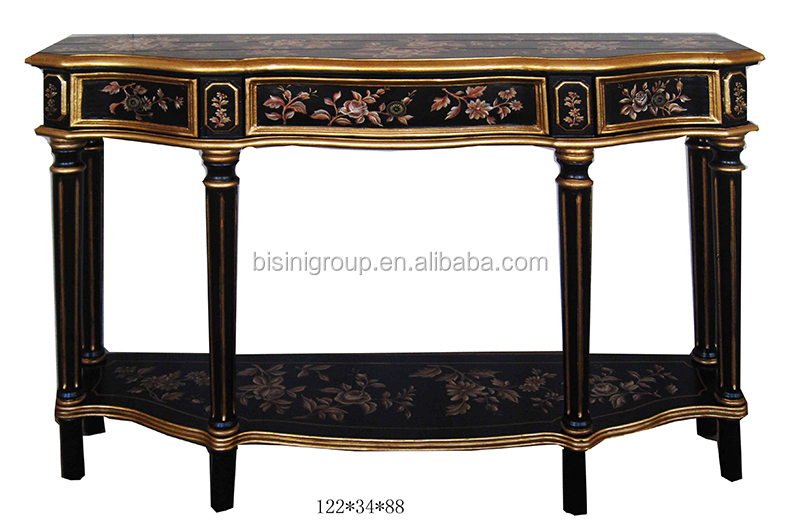 Antique Chinoiserie Style Hand Painted Black Console Hall Table Bf11 03281i    Buy Antique Wood Console Tables,Elegant Console Tables,Antique Wood Hall  ...