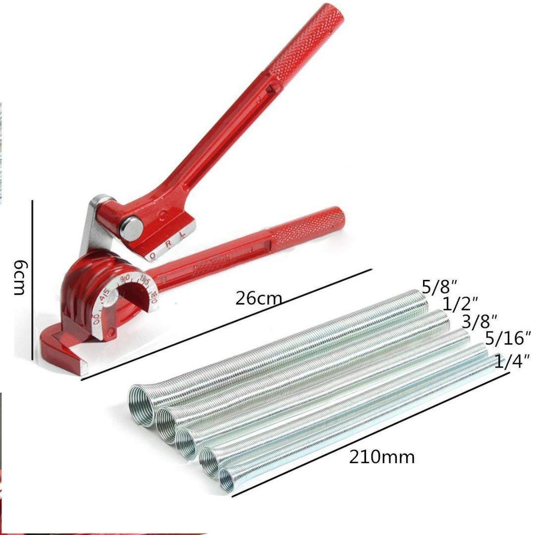 Tubing 3//8 5//16 6//8//10mm Keenso 3 In 1 180 Degree 1//4 5//16 3//8 Aluminum Alloy Tube Bender Heavy Duty Pipe Bending Tool Easily Make 180 Degree Bends in Tubing Pipe Bender for 1//4