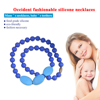 fashion Silicone teething necklace for baby bpa free teething wholesale cross pendants jewelry baby gift