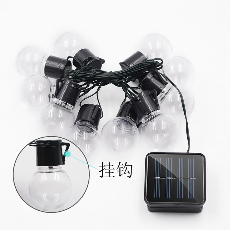 New Solar Light String 10LED Bulbs Lantern Bulbs Outdoor Waterproof Christmas Garden Decoration String Lights