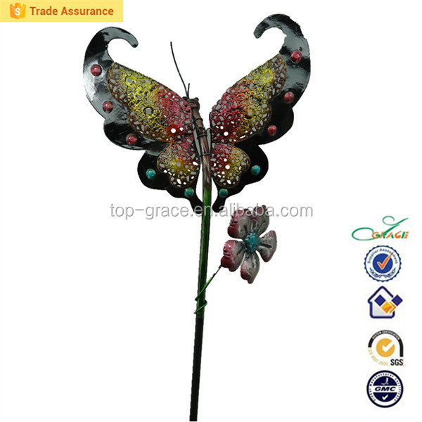 Metal spring and summer garden butterfly ornament