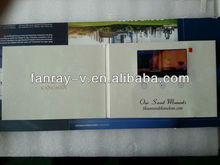 "4.3"" lcd video invitation brochure card for wedding"