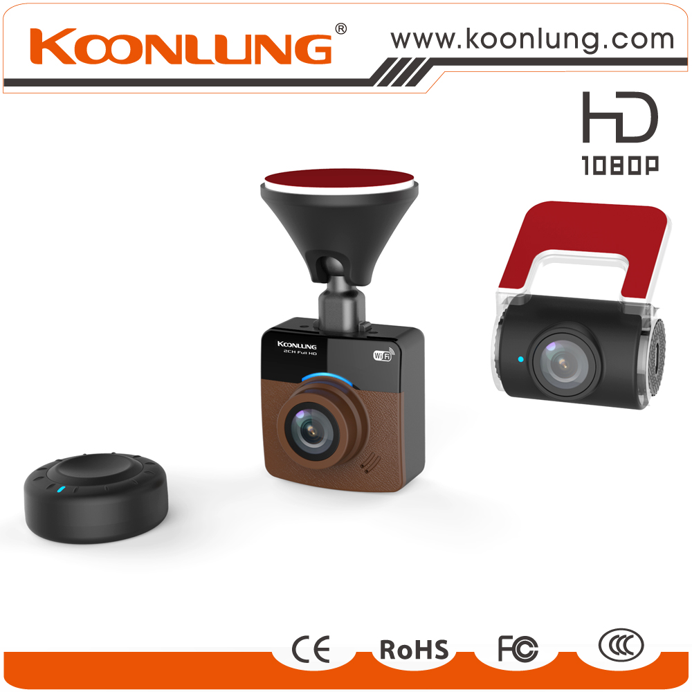 Low Price 1080P with wifi and gps 2CH Cam recorder car dvr camera