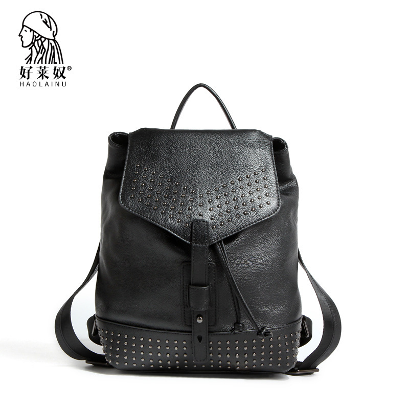2efb420a88e4 Get Quotations · 2015 New arrival Fashion school bags Hot Preppy Style women  Backpack Rivet Crown Student backpack PU