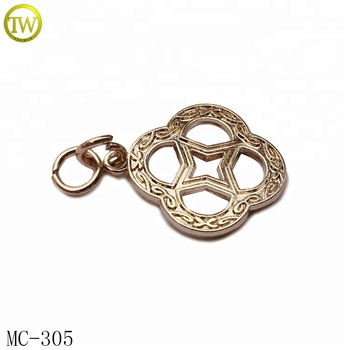 Gold color garment accessories custom metal hang tag for clothing