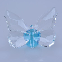 Large Crystal Butterfly Animal Figurine Paperweight Ornament Unique Wedding Gift MH-D0321