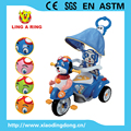 tricycle kids popular dog face baby tricycle with canopy and pushbar