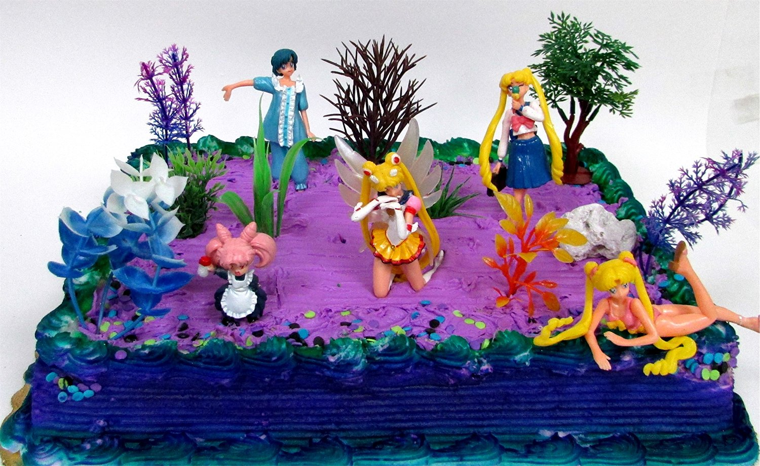 Buy 10 Piece Sailor Moon Themed Birthday Cake Topper Set Featuring