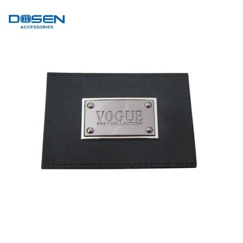 Custom Brand Engraved Logo Casual Jeans Leather Garment Shiny Pu Labels  Clothing Patches Tag Handbags Metal Label - Buy Spanish Clothing Brands