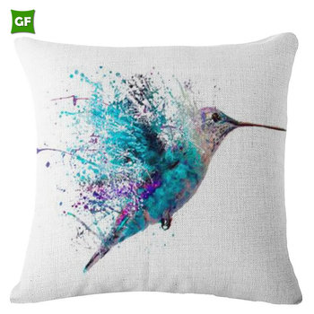 Fashion Relaxation Dragonfly Print Style Comfortable Custom Made Sofa Back Cushion Cover Whole