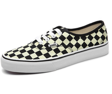 Hot sell lace up black white checkers canvas unisex sneakers