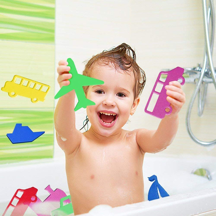 Baby floating EVA foam educational baby toy bath toy set