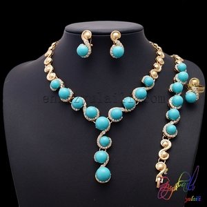 Fantasy design necklaces jewelry Cheap indian jewelry accessories 18k gold plated chain necklace