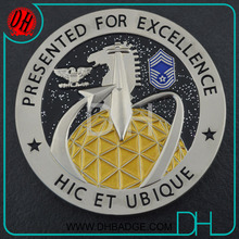 OEM Outer space military glitter excellence challenge Commemorative coin