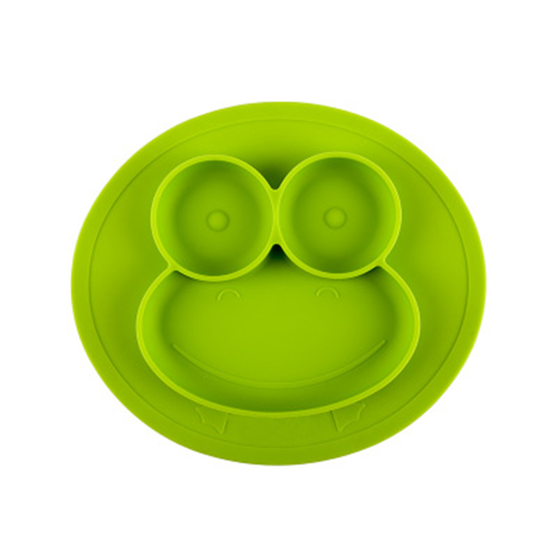 Cunite BPA free Portable Eco-friendly Silicone Suction Plate Baby Silicone Placemat Plate Feeding Food Plates
