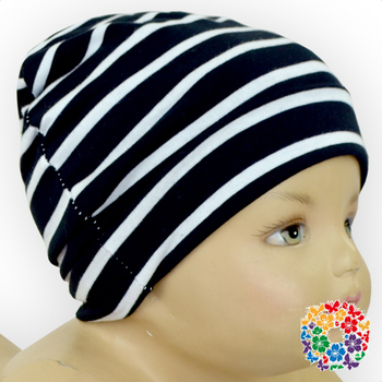 Hot Style Black And White Striped Infants Cotton Caps Toddlers Winter Hats  Wholesale Newborn Baby Beanie 74322173afb
