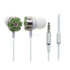 2018 woman gift green diamond earphones with nice packing, super bass stereo metal ear shell wired earbuds