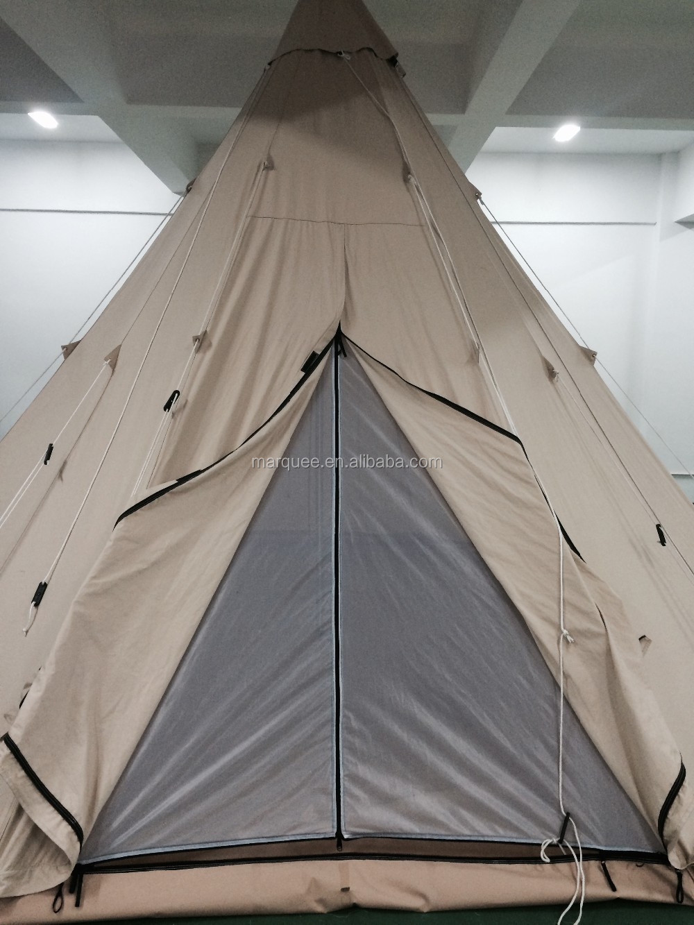 5m Round Tipi Outdoor Tent Teepee Tent 100 Cotton Canvas