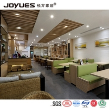 HK Hong Kong style cafe tea restaurant table booth sofa and chair furniture set