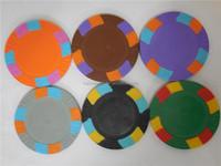 Wholesale gambling cheap metal blank poker chip clay