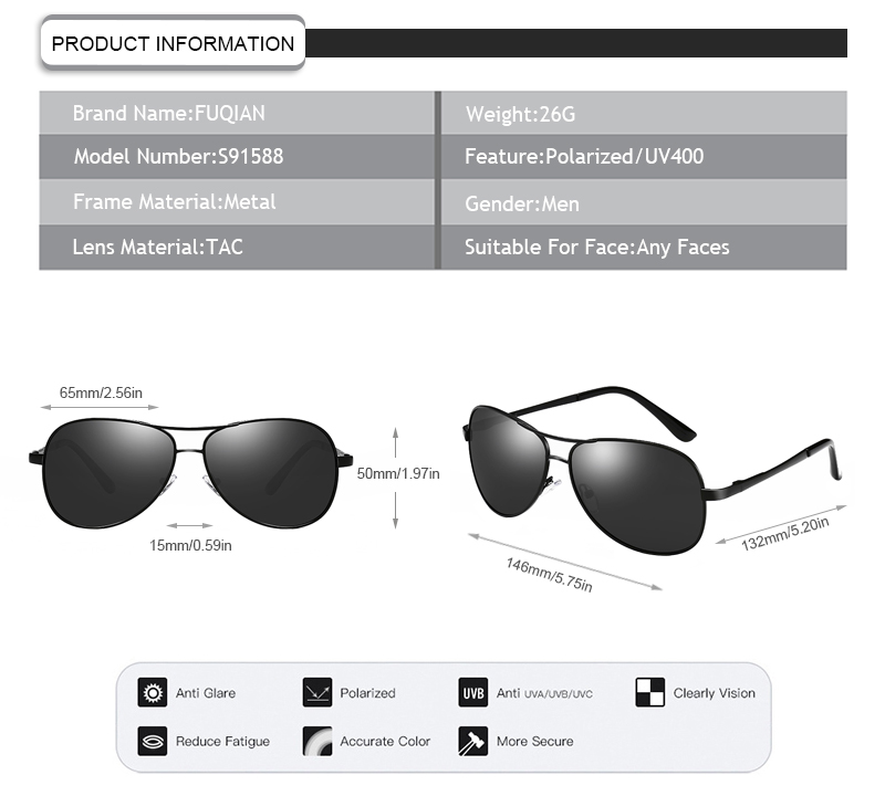 custom black flys sunglasses fashion design for driving-11