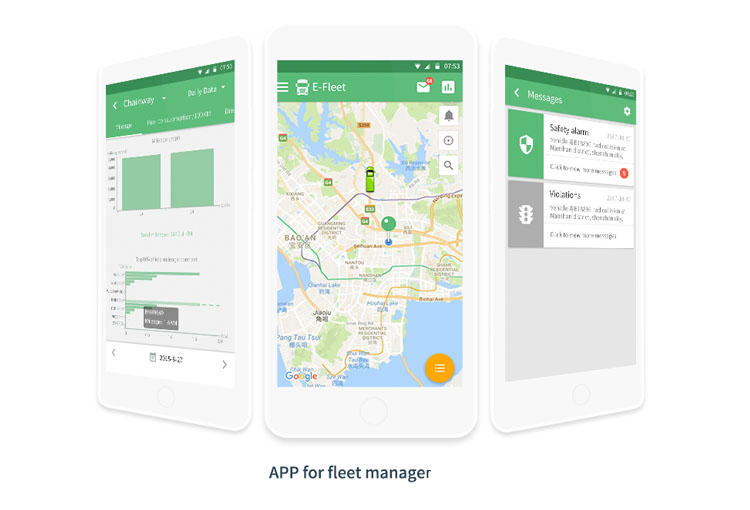 fleet management cloud service with web and apps based on OBD