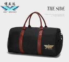 Nylon with PU leather travel bag luggage bags duffel bag