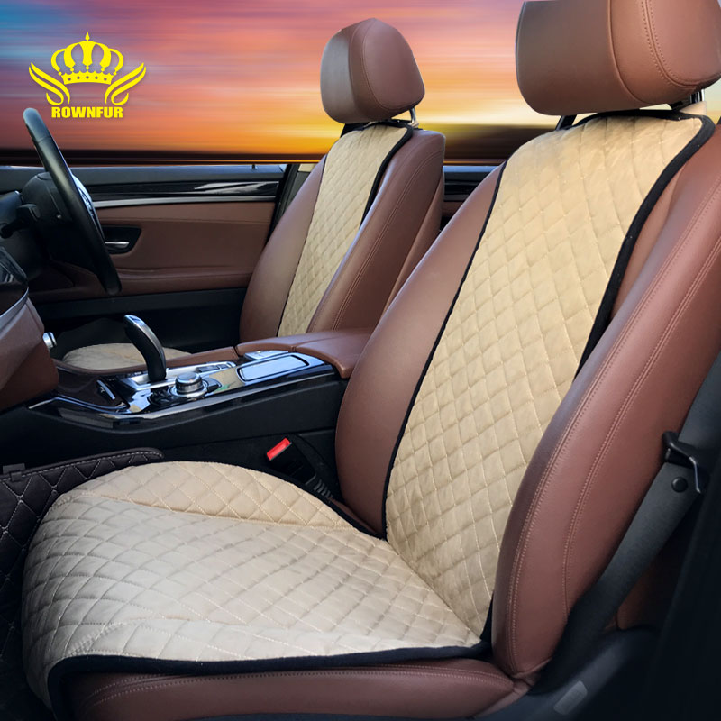 2019New Wholesale factory promotional foldable Scratch Proof Interior Accessories suede car seat cushion covers