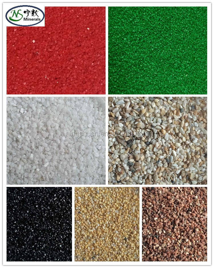 Natural Artificial sand waterproofing colour sand 1-2mm 2-3mm for aquarium sand, fish tank