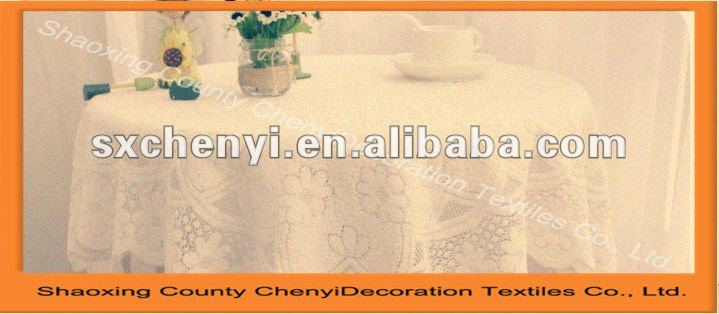 2012 new embroidery pattern table cloth