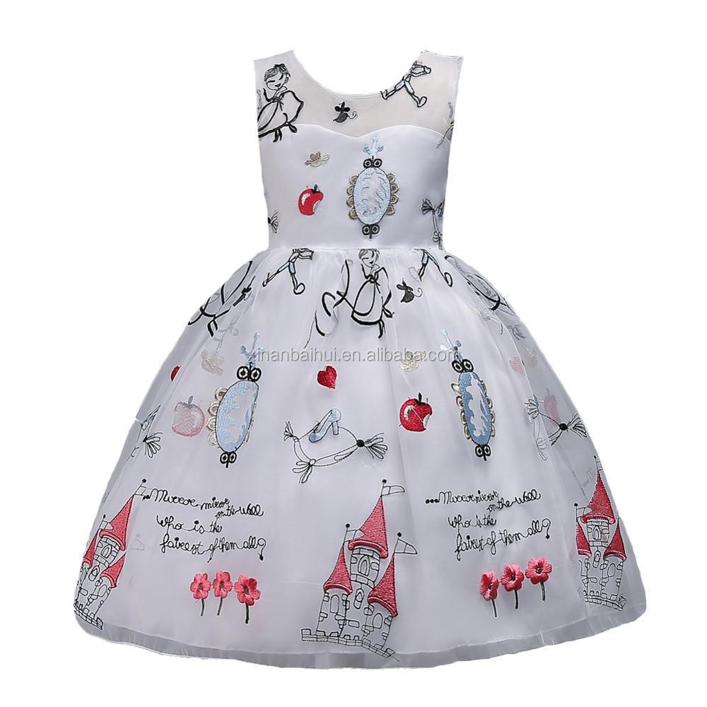 6a6ba598bbd Mignon petite fille Anniversaire Robe pour 3 ans enfant Dessin Animé robe  style Élégant Robe de