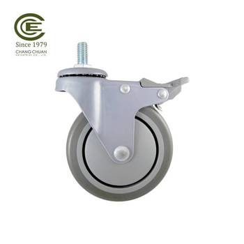 cast iron cart rubber roller caster wheels for hospital bed