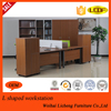 Modern Office Closed Computer Desk with Locking Pedestal