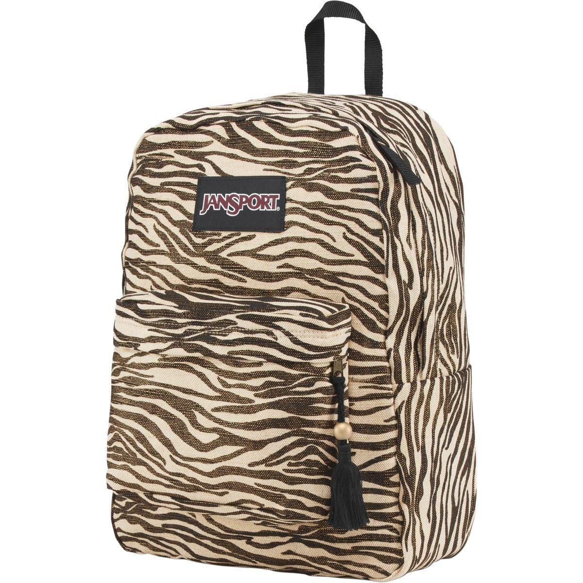 "JanSport Super FX Backpack - Gold Metallic Zebra / 16.7""H x 13""W x 8.5""D"