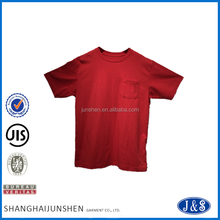 Classic high quality cotton plain custom red t shirt 100 cotton men t shirt