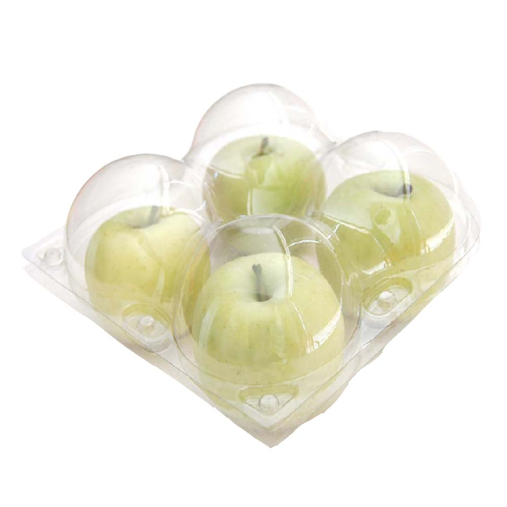 Disposable customized plastic food fruit tray container clear apples tray