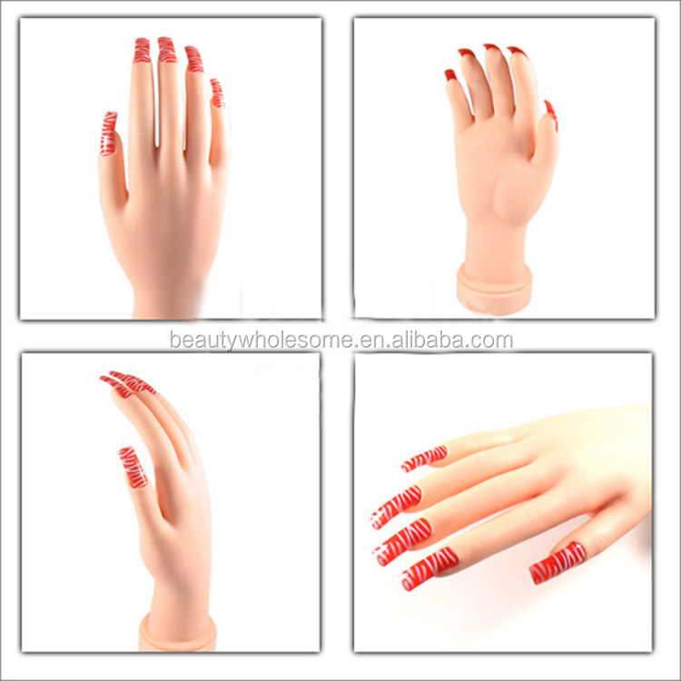 Hand Model For Nails,H0t004 nail Care,Acrylic Nails Practice Soft ...