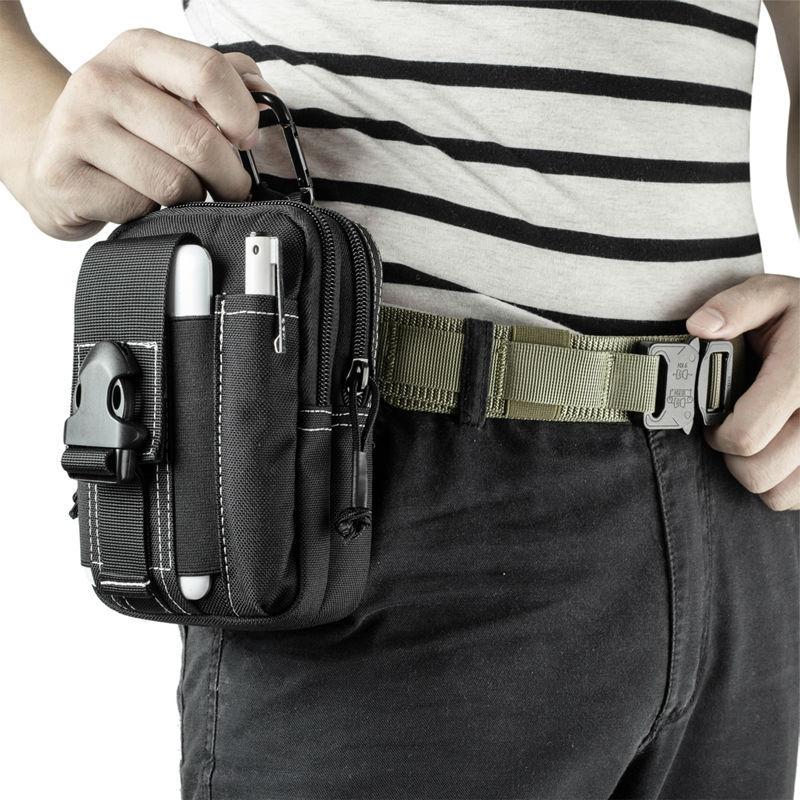 dfe913d209c5 OneTigris Portable Tactical MOLLE EDC Pouches Belt Waist Bag Pack Utility  Electronic Gadget Pouch for iPhone 6s 2pcs/lot