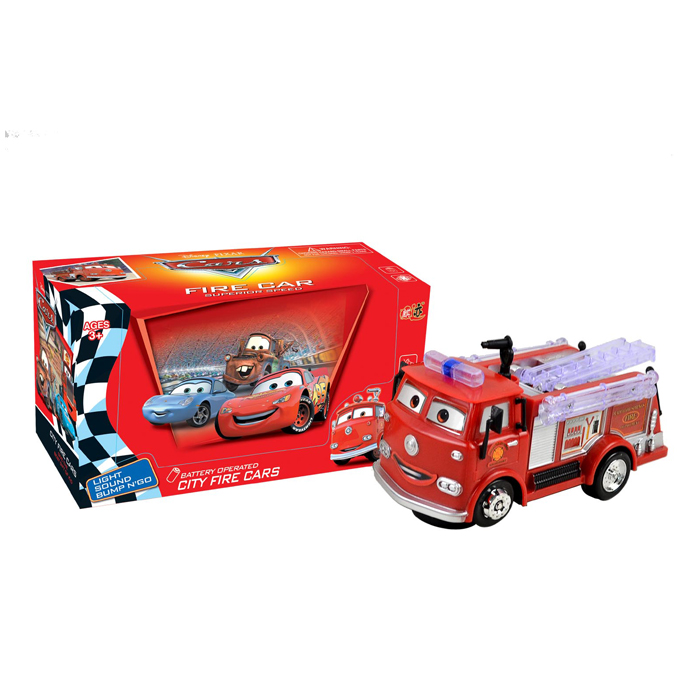 Battery operated electric toy car fire engine truck for kids