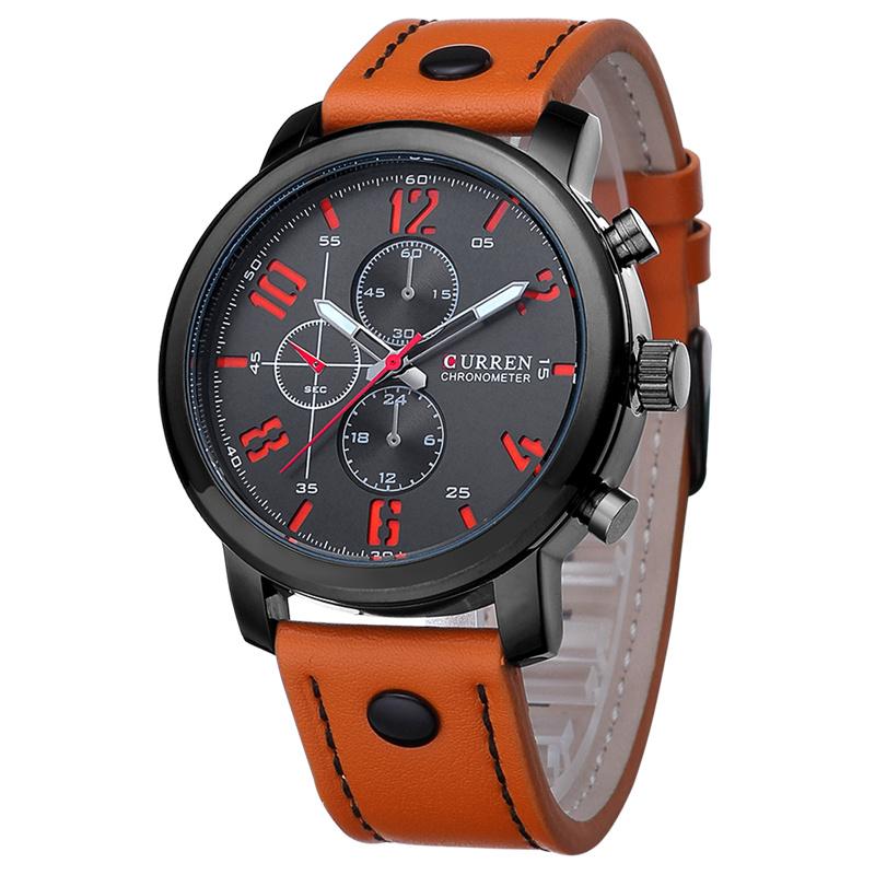d8be167e6 2016 Relojes Curren Men's Sports Quartz Watches Top Brand Luxury Leather  Wristwatches Relogio Men Curren Watches