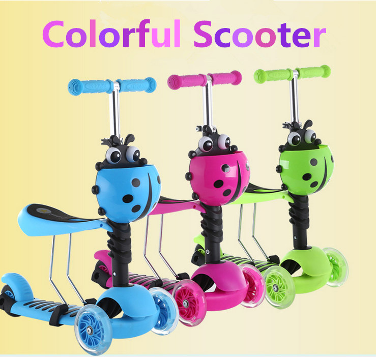 2019 Hot selling three wheel child kick scooter for kids , 3 IN 1 baby cheap bmx scooter