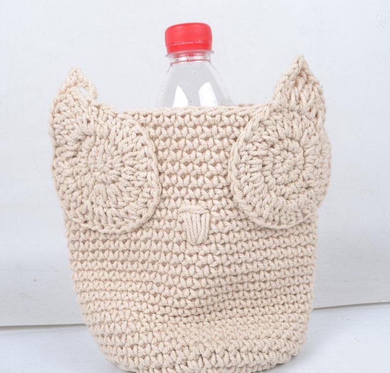 Buho Hecho A Mano Cesta Con Forma De Buho De Crochet Cesta Búho ...
