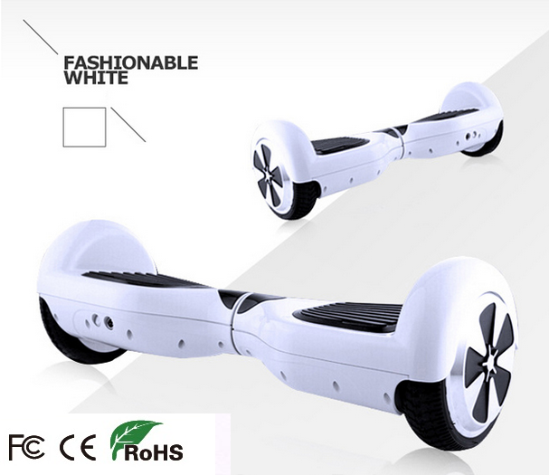 "9"" White Self Balancing Scooter Hoverboard Swegway Style Bluetooth Music LED Including"