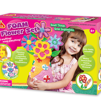 FOAM FLOWER SET, PLAY DOUGH, EDUCATIONAL TOYS FOR KIDS