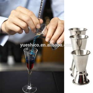 3 PCS Stainless Steel Cocktail Drink Mixer Measuring Cups Wine Pourers Vessel Double Cup Jigger Measure Sets Bar Coffee Tools