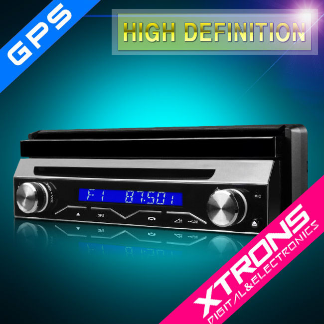 "D714G: Xtrons 7"" One Din Car Radio"