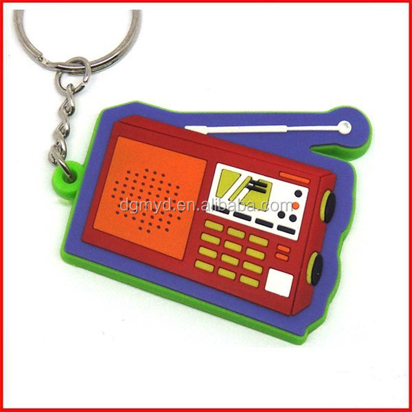 Radio shape design PVC keychain Rubber key chain